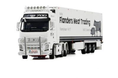 Flanders Meat Trading VOLVO FH3 GLOBETROTTER XXL 6×2 TWIN STEER , Van WSI Models