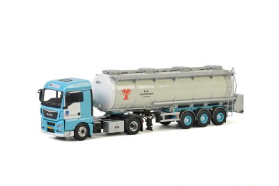 H&S Transport MAN TGX XLX EURO 6 4X2 TANK TRAILER – 3 AXLE , Van WSI Models