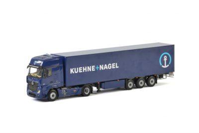 Kuehne + Nagel MERCEDES-BENZ ACTROS MP4 GIGA SPACE 4×2 BOX TRAILER – 3 AXLE , Van WSI Models