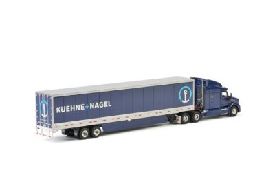 Kuehne+Nagel PETERBILT 579 BOX TRAILER – 3 AXLE , Van WSI Models