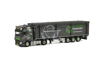 Louwers Transport DAF XF SUPER SPACE CAB 4X2 VOLUME TRAILER – 3 AXLE , Van WSI Models