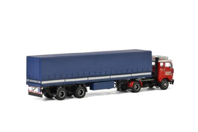 Van Holland Transporten VOLVO F88 4×2 CURTAINSIDE TRAILER CLASSIC – 2 AXLE , Van WSI Models