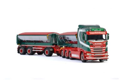 Brodda Akeri SCANIA S NORMAL CS20N 8×4 RIGED TRUCK DRAWBAR HOOKLIFT SYSTEM , Van WSI Models