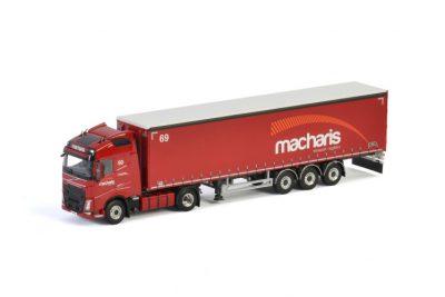 Macharis VOLVO FH4 GLOBETROTTER 4×2 CURTAINSIDE / TAUTLINER TRAILER – 3 AXLE , Van WSI Models