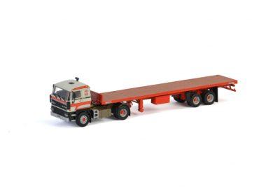 Transports Bialek et Fils DAF 3600 4×2 CLASSIC FLAT BED TRAILER – 2 AXLE , Van WSI Models