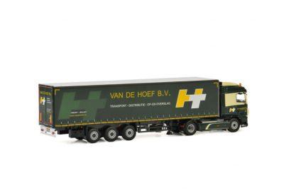 Van de Hoef B.V. DAF XF SPACE CAB MY2017 4×2 CURTAINSIDE , Van WSI Models