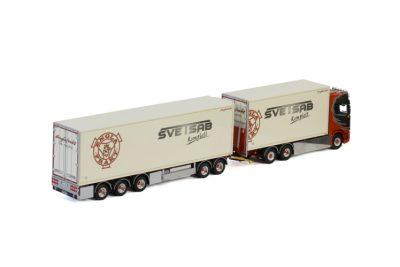 Englafrakt SCANIA S HIGHLINE CS20H 6×2 TWIN STEER RIGED TRUCK DRAWBAR REFRIGERATED , Van WSI Models