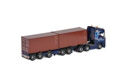 Ron Poppelaars SCANIA R HIGHLINE CR20H 6×2 TWIN STEER 2 CONNECT COMBI TRAILER , Van WSI Models