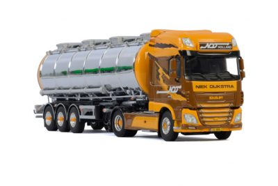 Niek Dijkstra DAF XF SUPER SPACE CAB 4×2 TANK TRAILER – 3 AXLE , Van WSI Models