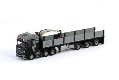 Gerben Buiter SCANIA R HIGHLINE CR20H 6×2 TWIN STEER BRICK TRAILER – 3 AXLE , Van WSI Models