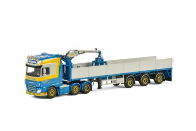 Zuidema DAF XF SUPER SPACE CAB 6×2 TWIN STEER BRICK TRAILER – 3 AXLE , Van WSI Models