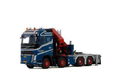 Vindelsbæk Transport A/S VOLVO FH4 GLOBETROTTER 8×4 PALFINGER 15000.2 , Van WSI Models