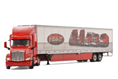 Premium line PETERBILT 579 6×4 BOX TRAILER – 2 AXLE , Van WSI Models