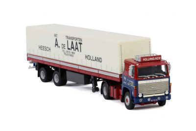 A. de Laat SCANIA 1 SERIES 4X2 CURTAINSIDE TRAILER | CLASSIC – 2 AXLE , Van WSI Models