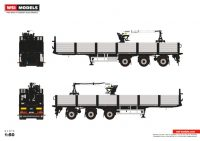 Premium Line BRICK TRAILER BLACK - 3 AXLE , Van WSI Models