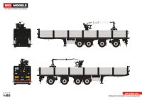 Premium Line BRICK TRAILER BLACK - 4 AXLE , Van WSI Models