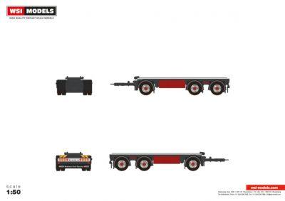 Premium Line DRAWBAR FLATBED , Van WSI Models