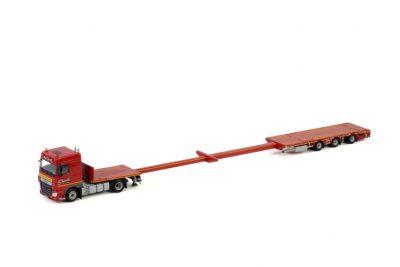 Transports Capelle DAF XF SPACE CAB 4X2 MEGATRAILER FLATBED – 3 AXLE , Van WSI Models