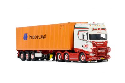 F&R Transport SCANIA S HIGHLINE | CS20H 6X2 TWINSTEER CONTAINER TRAILER , Van WSI Models