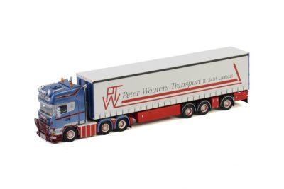 PWT Thermo SCANIA STREAMLINE TOPLINE 6×2 TWIN STEER + CURTAINSIDE TRAILER , Van WSI Models