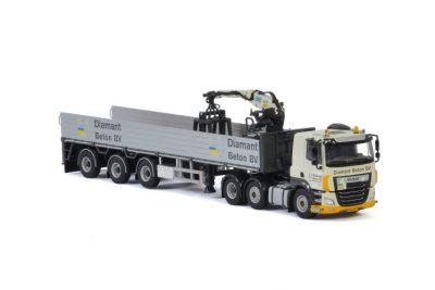 Diamant Beton BV DAF CF SLEEPER CAB MY2017 6X2 TWINSTEER BRICK TRAILER – 3 AXLE , Van WSI Models