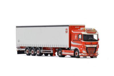 Transports Bialek & Fils DAF XF SUPER SPACE CAB MY2017 4X2 CURTAINSIDE TRAILER – 3 AXLE , Van WSI Models