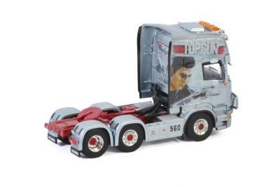 "Decker Transporte SCANIA STREAMLINE TOPLINE 6X2 TWINSTEER ""German Supertrucks"" , Van WSI Models"