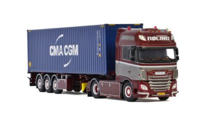 Roling DAF XF SUPER SPACE CAB MY2017 4X2 CONTAINER TRAILER – 3 AXLE , Van WSI Models