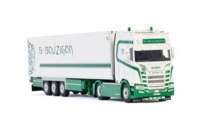 S. Bouzigon SCANIA S HIGHLINE | CS20H 4X2 REEFER TRAILER – 3 AXLE , Van WSI Models
