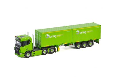 Bring SCANIA R NORMAL | CR20N 6X2 CONTAINER TRAILER + 2X 20 FT CONTAINER – 3 AXLE Models