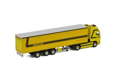 Haukes VOLVO FH 2 GLOBETROTTER XL 4X2 CURTAINSIDE TRAILER | TRIDEC – 3 AXLE , Van WSI Models