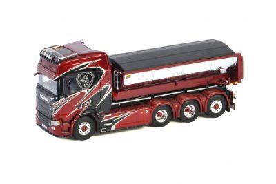 Wermelin SCANIA R HIGHLINE   CR20H 8X4 RIGED   TRUCK   HOOKLIFT SYSTEM , Van WSI Models