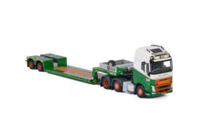 Koninklijke Saan VOLVO FH4 GLOBETROTTER XL 6X2 TWINSTEER LOWLOADER , Van WSI Models