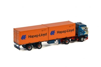 Jonker DAF 3600 SPACE CAB 4X2 CONTAINER TRAILER 2 AXLE + 2X 20 FT CONTAINER HAPAG LLOYD , Van WSI Models