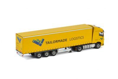 Tailormade Logistics VOLVO FH4 GLOBETROTTER 4X2 CURTAINSIDE TRAILER – 3 AXLE , Van WSI Models