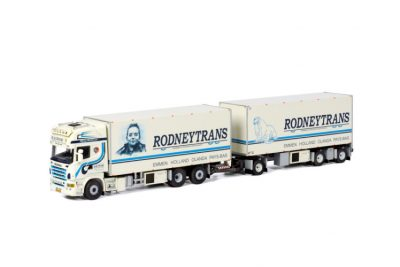 Rodneytrans SCANIA R5 TOPLINE RIGED BOX TRUCK COMBI , Van WSI Models